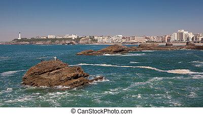 Sea in Biarritz, Aquitaine, France