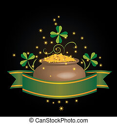 pot of money - vector illustrarion for St Patricks Day with...