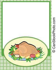 Frame with turkey