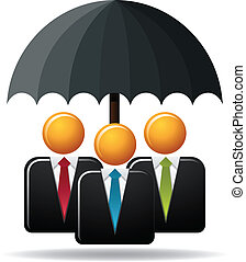 Business Protection - Illustration concept of business...