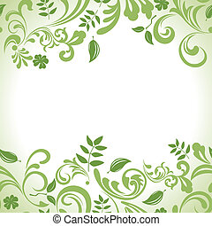 Green leaf banner set - Illustration vector