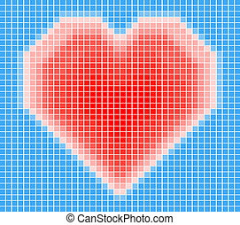 vector illustration of the heart on