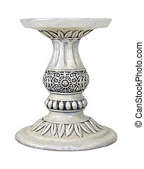 Leaved Pedestal - Leaves around a Stone Pedestal for holding...