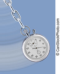 Stopwatch pendulum - Pendulum consisting of a stop watch on...