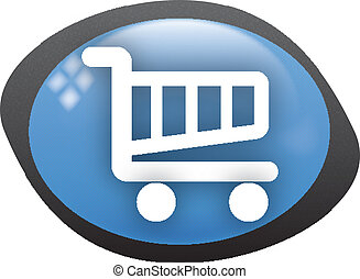cart oval blue icon