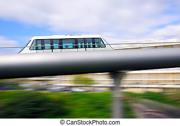 Monorail carriage - Motion panning of modern elevated...