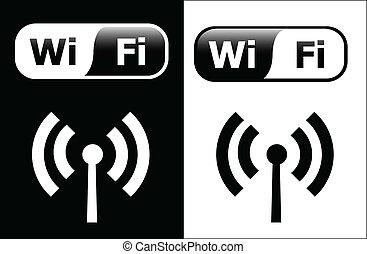 wi-fi symbols - vector