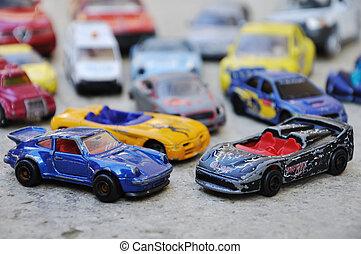 很少, 戶外, 很多, 汽車, 玩具, 地面