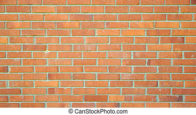 Standard brick wall, orange color, good for design