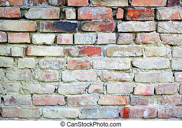 Standard brick wall, orange color, good for old background