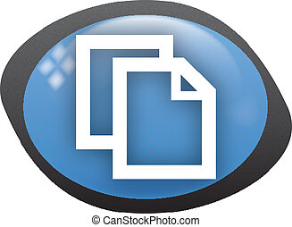 copy icon - copy oval blue icon
