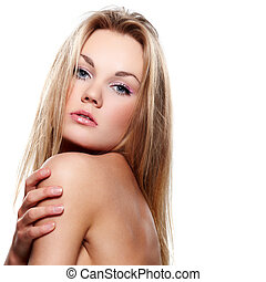 Sensuality - Portrait of a sensual young blond woman...