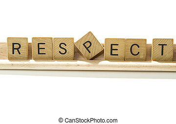 respect - letters of the word respect
