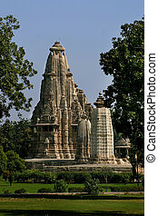 Khajuraho, a large complex of temples of the North Indian...