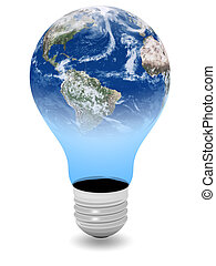Bulb and planet earth mix - Bulb and planet earth...