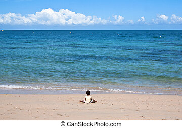 blu, nuovo,  caledonia, spiaggia