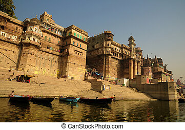 Varanasi city - Ancient Varanasi city with its fortresses...