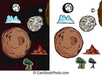 Moon Set II