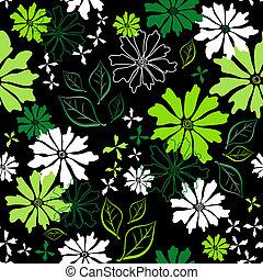 Floral seamless dark pattern