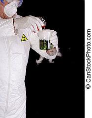chemical engineer, or biological scientist handling...