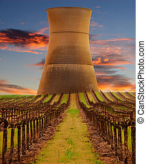 Rancho Seco Nuclear power station,in Northern California and...
