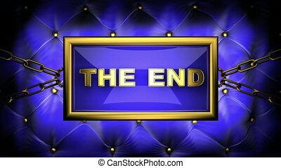 the end on velvet background