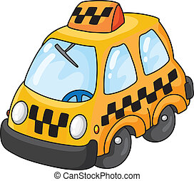 taxi - An illustration of a yellow taxi
