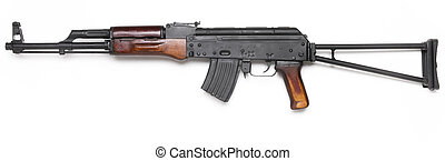 Well known AK-47 kalashnikov assault rifle