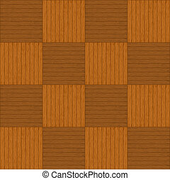 Wooden parquet - Wooden square brown parquet, seamless...