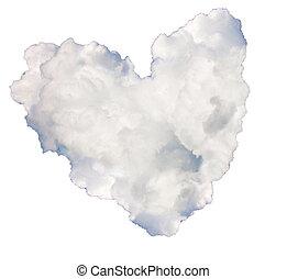 heart-cloud - cloud in the shape of heart