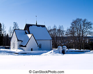 old church in Alno, northern Sweden