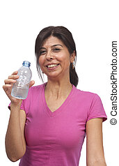 Water drinking fitness instructor - Water drinking after...