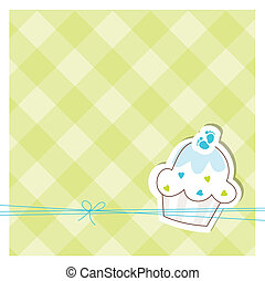 Baby shower invitation  - Cute card with copy space