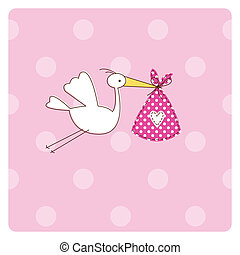 Baby arrival card - Greeting card with copy space