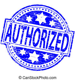 Authorized Stamp - Rubber stamp illustration showing...