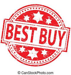 """Best Buy Stamp - Rubber stamp illustration showing \""""BEST..."""