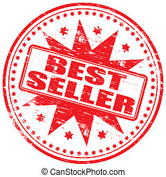 "Best Seller Stamp - Rubber stamp illustration showing ""BEST..."