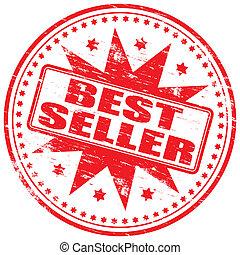"""Best Seller Stamp - Rubber stamp illustration showing \""""BEST..."""
