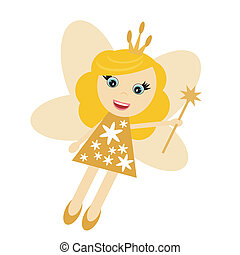 fairy elf girl on white background - nice fairy elf girl on...