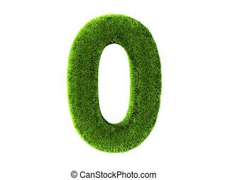 Grass zero - A grass zero isolated on a white background