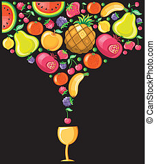 Fruity composition 5 - Different types of delicious fruits...