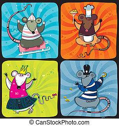 Funny rats series 1  - Defferent cute funny rats
