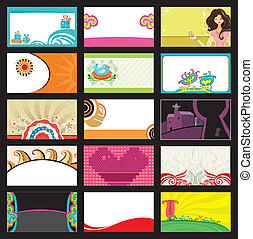 15 colorful business cards - vector - Collection business...