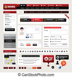Web Design Website Element Vector