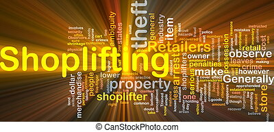 Shoplifting background concept glowing - Background concept...