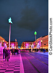 Massena square, Nice - Colorful decoration of Massena square...
