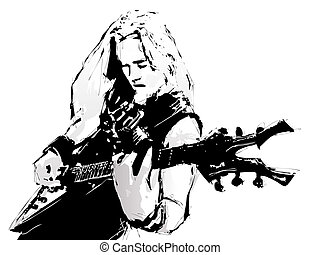 guitarist - illustration of the guitarist