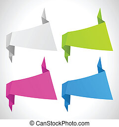 the vector abstract origami background set
