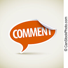 Comment - speech bubble as pointer with white border