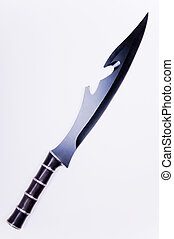Black blade sword - A black blade sword isolated on over...